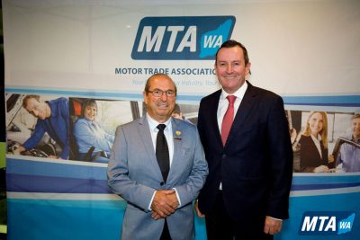 Basil Scagliotta with Premier Hon Mark McGowan MLA
