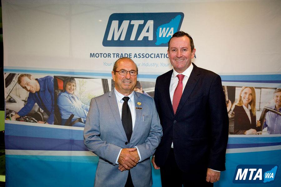 Basil Scagliotta with Premier Hon Mark McGowan MLA