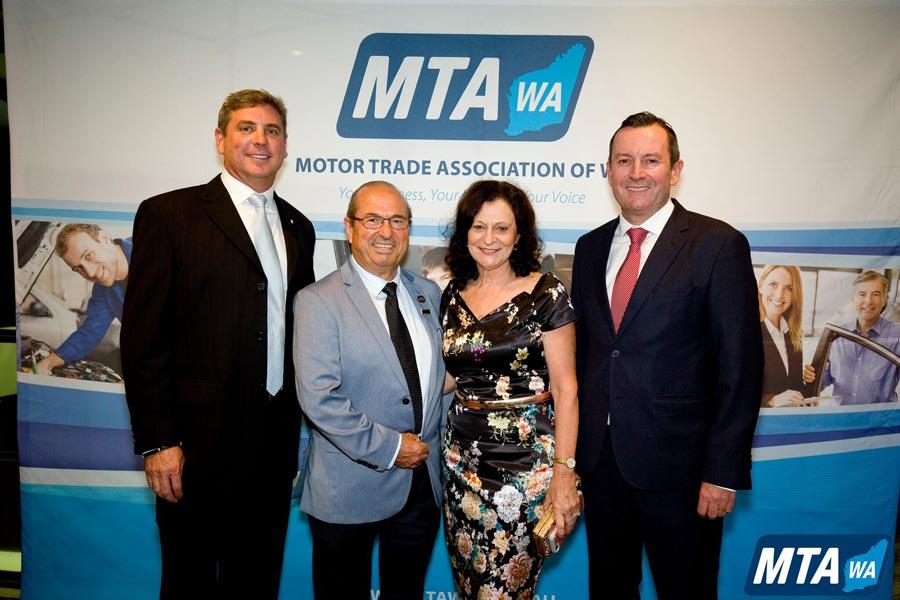 David Dye President of MTAWA Basil Rosie Premier