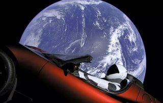 Space X Tesla Roadster