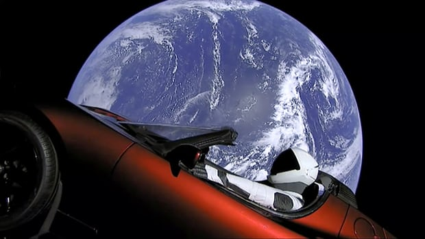 Space X Tesla Roadster