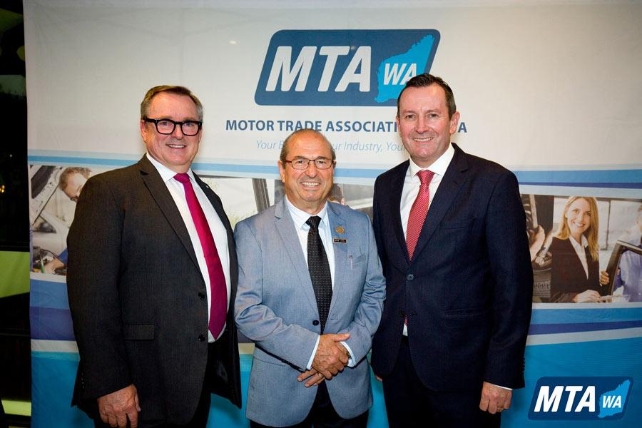 Stephen Moir CEO of MTAWA Basil Scagliotta Premier Hon Mark McGowan MLA
