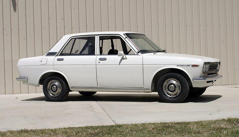 white vintage datsun