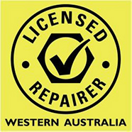 WA government licensed repairer tick