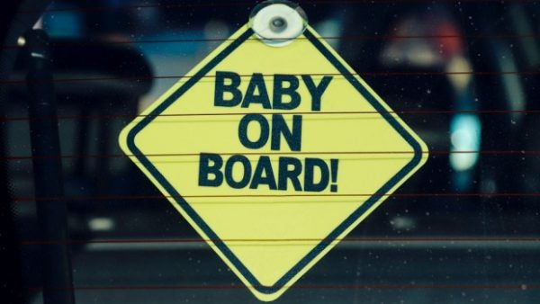 baby on board sign car accessory