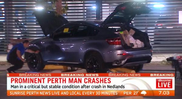 Perth car crash at Charlie Gardiners