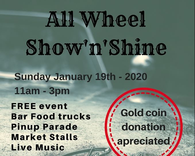 all wheel show and shine poster
