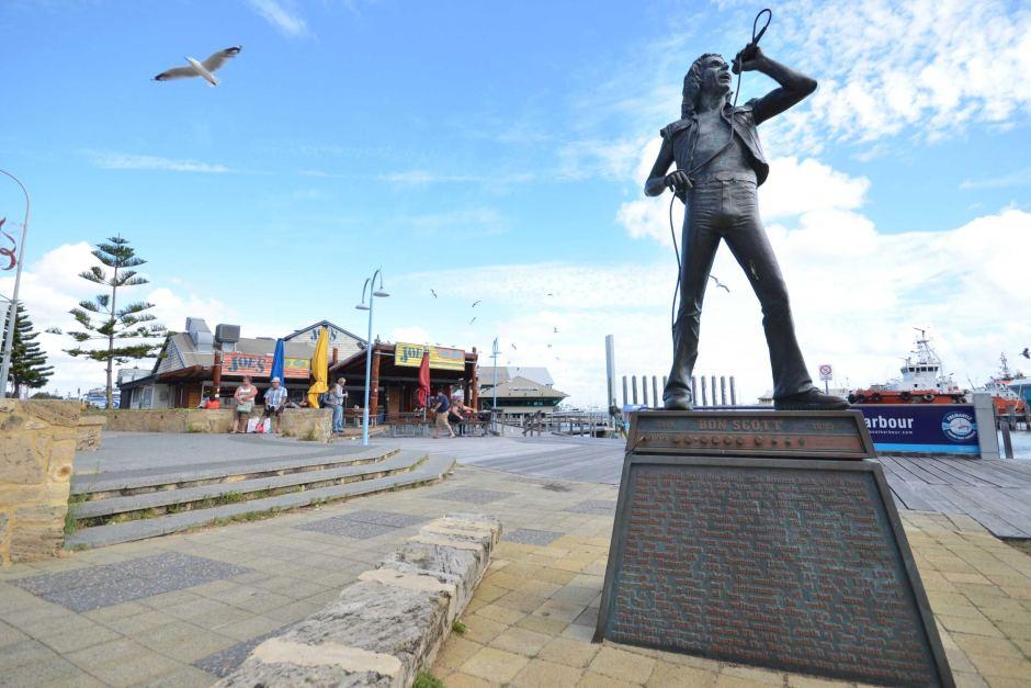 Bon Scott Statue Fremantle