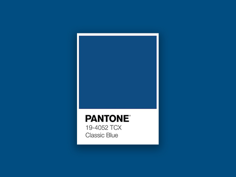 Pantone's Colour Of 2020 is Classic Blue