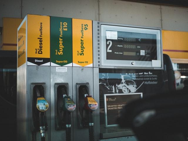 different fuels at pump